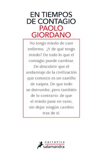 'En tiempos de contagio', de Paolo Giordano