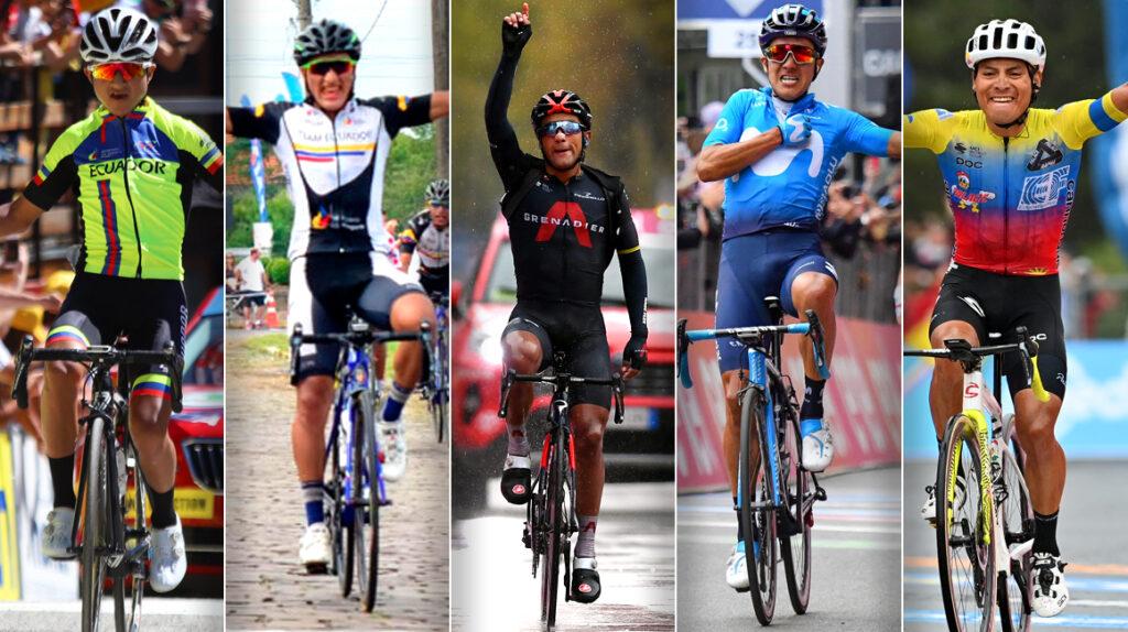 Las 11 principales victorias de etapa de ciclistas ecuatorianos