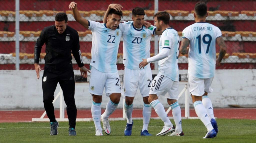Argentina le gana a Bolivia en La Paz y comanda la Eliminatoria
