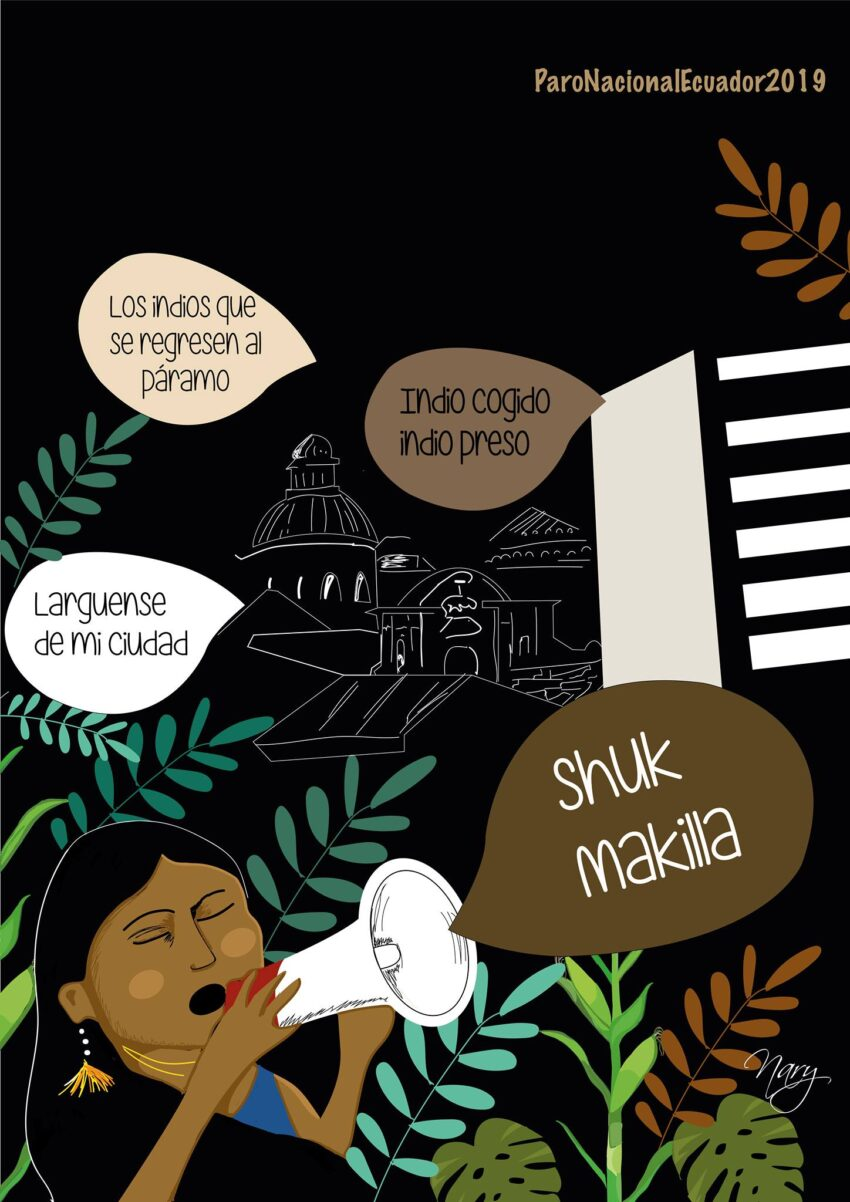 La ilustración de Nary Manai, que forma parte de Primera Línea, y que, de acuerdo a la artista, hace referencia