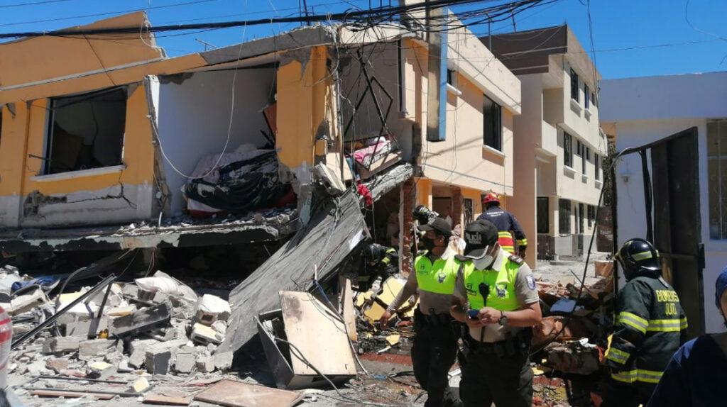 Nueve heridos dejó la explosión de un tanque de gas en Cumbayá