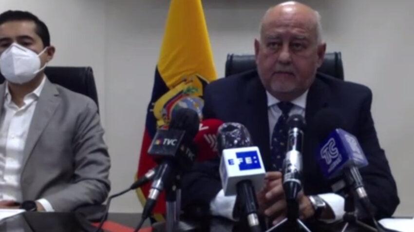 El ministro de Finanzas, Mauricio Pozo, durante su primera rueda de prensa en sus nuevas funciones, el 7 de octubre de 2020.