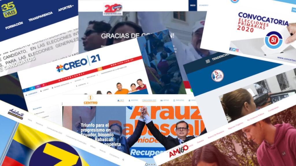Partidos y movimientos poco transparentes: ni siquiera tienen página web