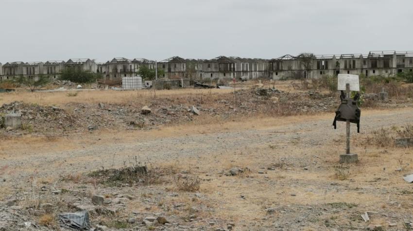 Las casas abandonados de Villa Hermosa, ubicadas en la vía Durán - Boliche, este 1 de octubre de 2020.