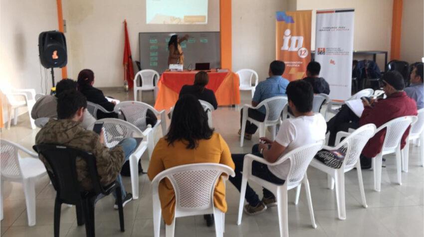 Curso de formación en comunicación política de la Izquierda Democrática, el 17 de agosto de 2019.