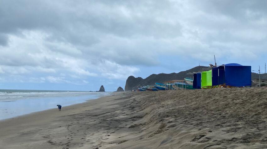 Imagen de la playa de San Lorenzo, Manabí, en noviembre de 2020.