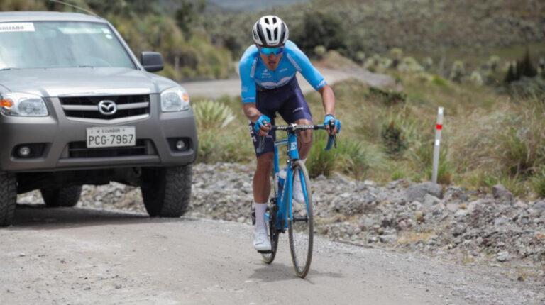 Jorge Montenegro durante uno de sus entrenamientos, previo a la Vuelta al Ecuador.