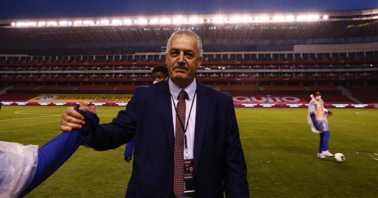 Gustavo Alfaro, entrenador de Ecuador, una vez terminado el partido, el 17 de noviembre de 2020.