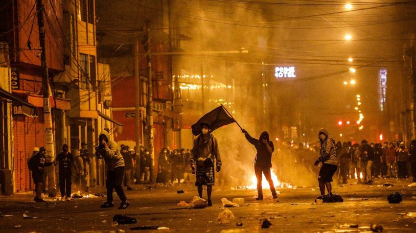 Dos personas murieron en las manifestaciones en Lima, Perú, el 14 de noviembre de 2020.