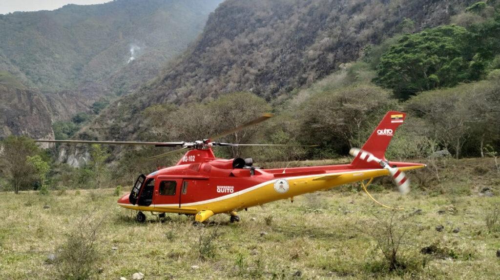 Incendio forestal se registra en la reserva ecológica Pululahua