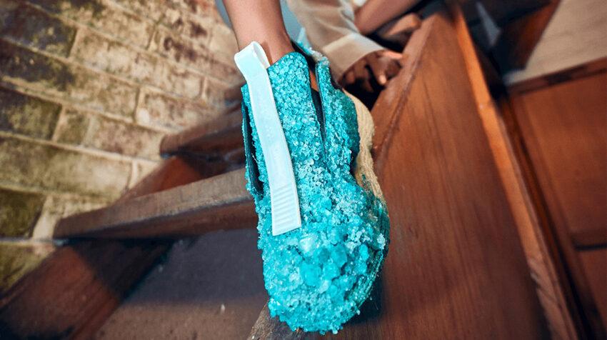 Zapato de Felipe Fiallo, de la colección Crystal Walk, el 12 de noviembre de 2020.