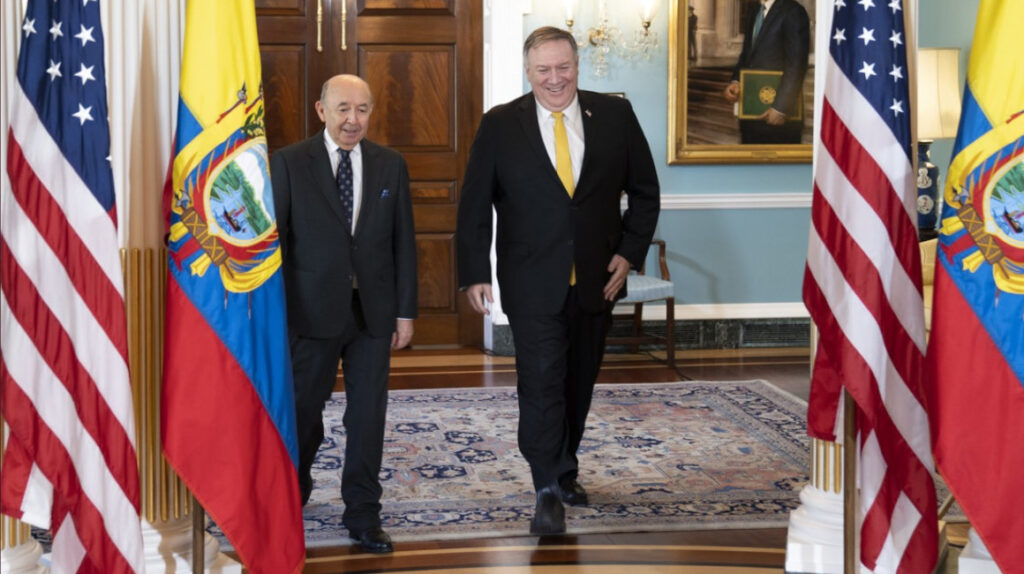 Ecuador intenta consolidar relación con Estados Unidos antes de salida de Trump