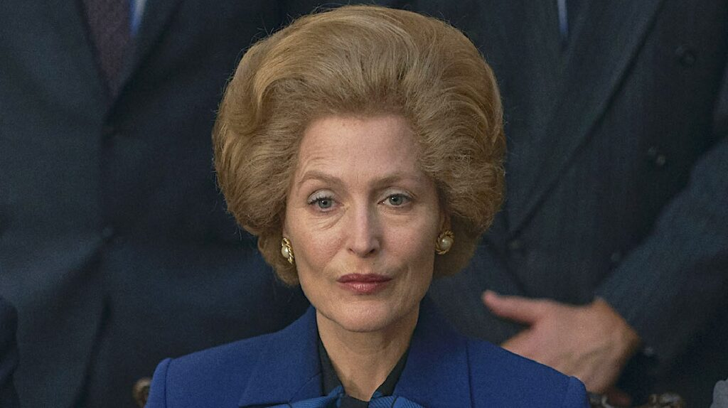 Gillian Anderson hace de Thatcher sin prótesis en 'The Crown'