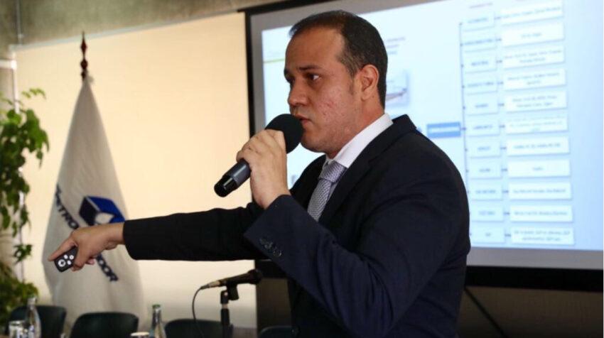 Archivo: Ricardo Merino, ahora exgerente de Petroecuador, en un evento en octubre de 2017.