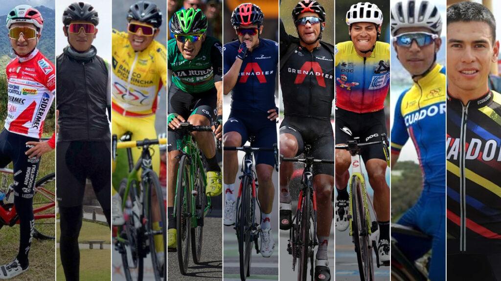 Nueve ciclistas ecuatorianos correrán en Europa en la temporada 2021