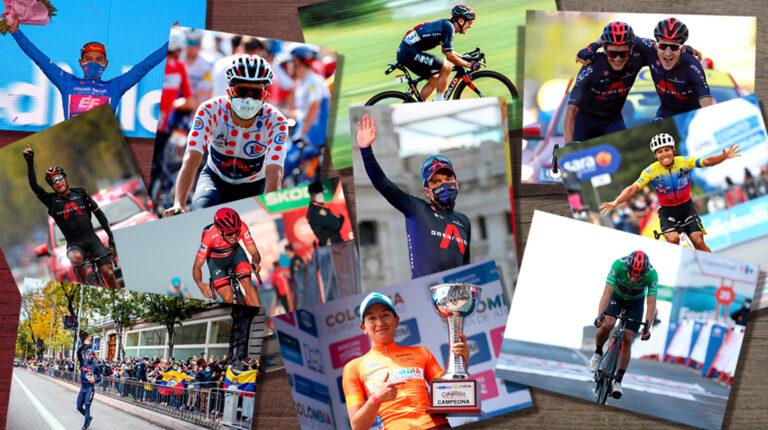El ciclismo dejó postales inolvidables en la temporada 2020.