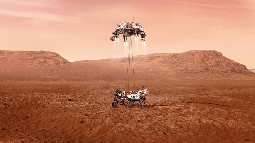 Así será la llegada del robot 'Perseverance' a Marte