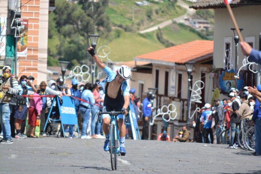 Steven Marcillo, ganador de la Etapa 4 del Tour de la Juventud.
