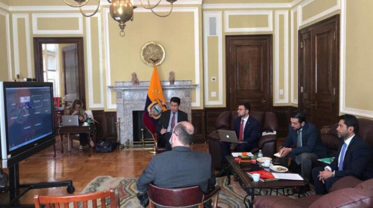 El 14 de octubre de 2020, el ministro de Producción, Iván Ontaneda, se reunió vía telemática con el Comité de Medios y Arbitrios del Congreso de Estados Unidos.