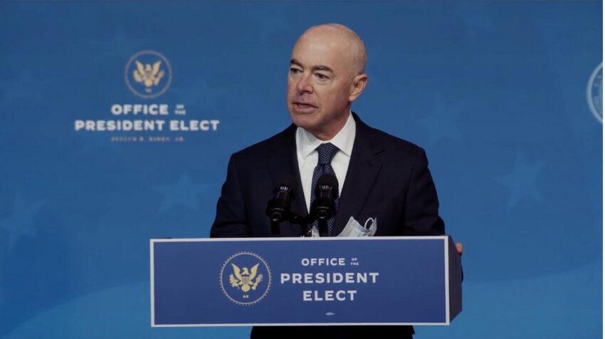 Alejandro Mayorkas, nuevo secretario de Seguridad Interior, en una foto del 9 de diciembre de 2020.