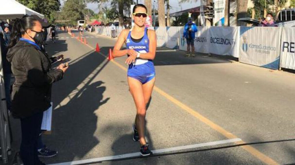 Johana Ordóñez llegó segunda en el Campeonato Internacional de Marcha