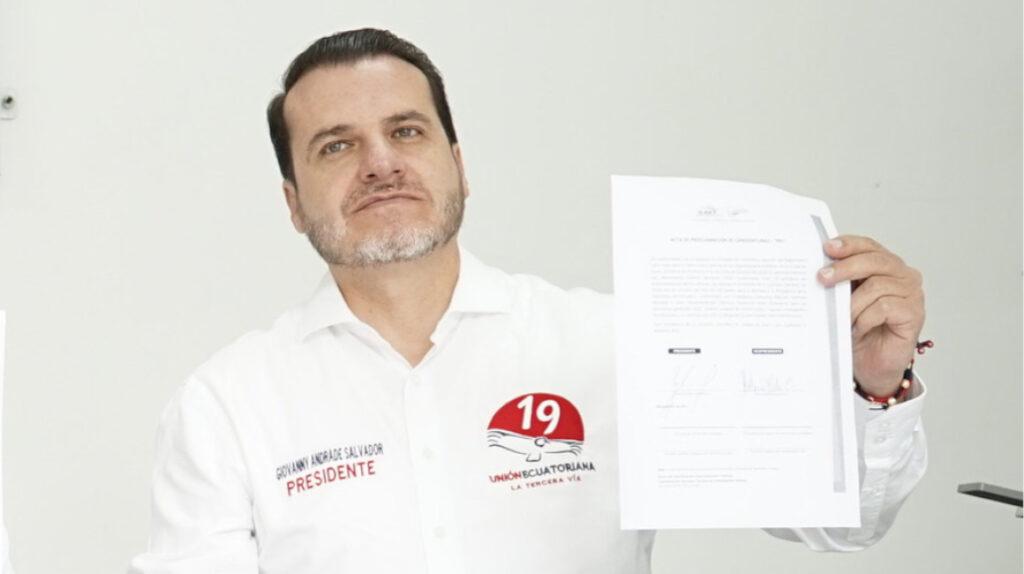 Unión Ecuatoriana reniega de su candidato presidencial