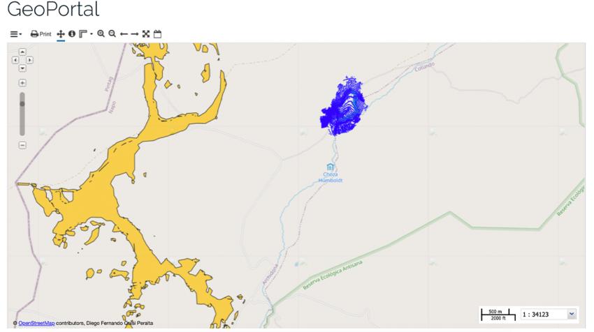 Mapa de los humedales monitoreados por Humegis