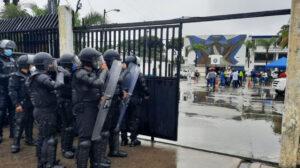 En Guayaquil, el 24 de enero de 2021, se simularon alteraciones al proceso electoral.