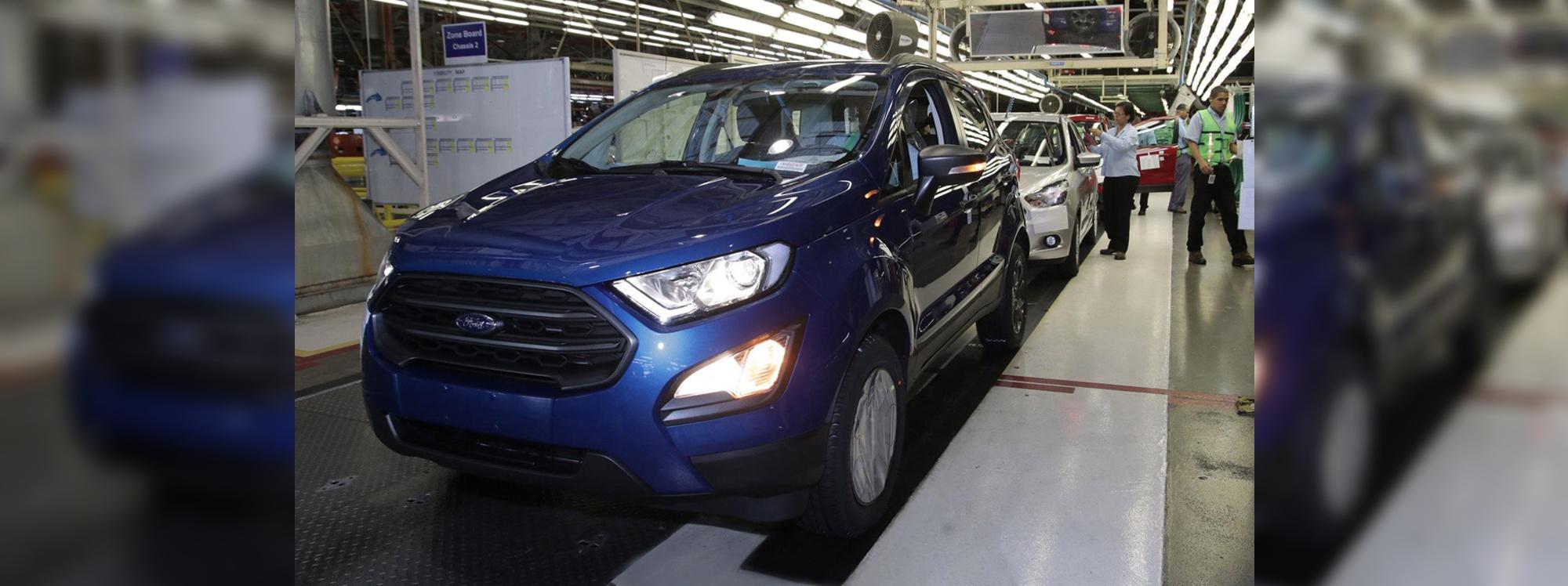 Cuatro marcas chinas quieren comprar la fábrica de la EcoSport, en Brasil