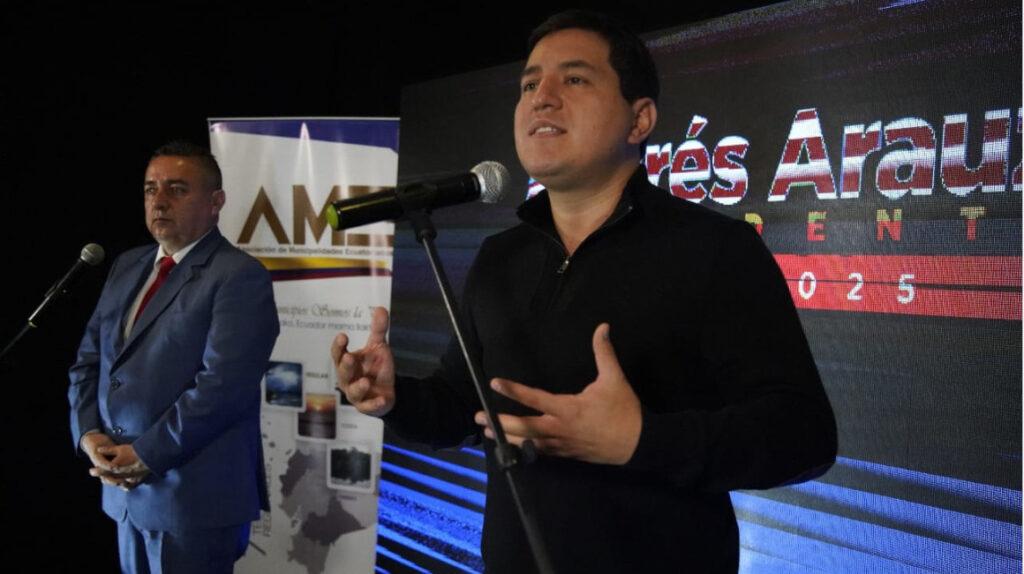 Andrés Arauz pretende marcar distancias con Correa para su campaña
