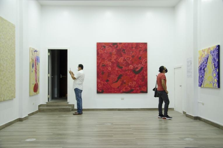 Espacio Onder, done se puede ver la muestra de Ivanna Coello, dentro de la Mancomunidad Muégano.