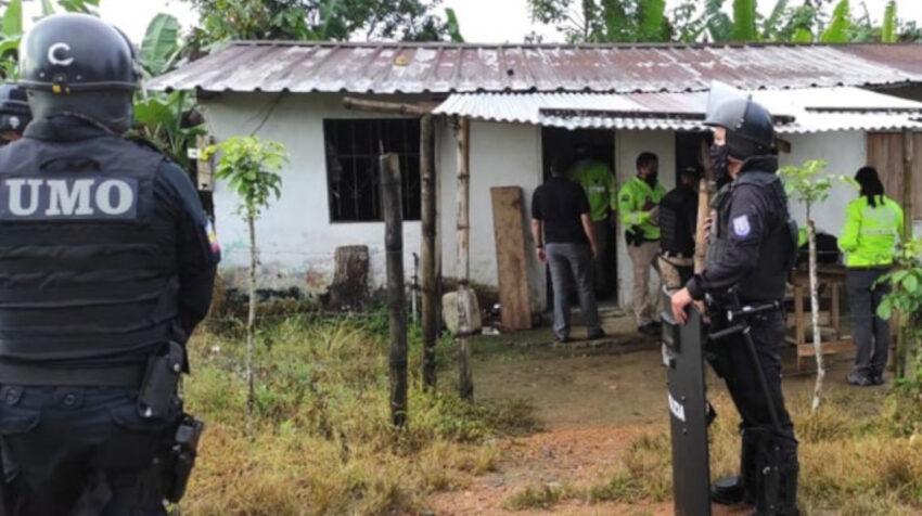 Imagen de uno de los allanamientos durante el operativo Rescate Querubín.