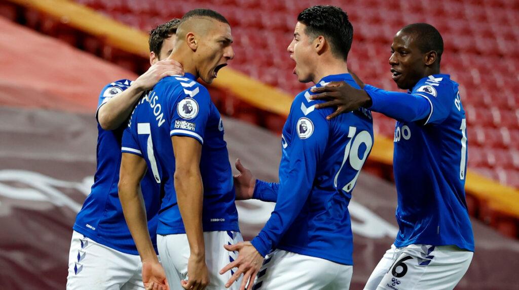 Everton derrotó al Liverpool en el derbi de Merseyside