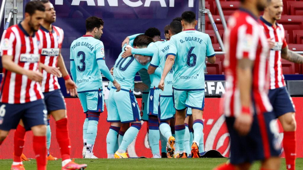 Levante sorprende y vence al Atlético Madrid como visitante
