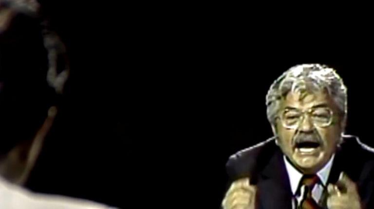 Debate presidencial entre León Febres Cordero y Rodrigo Borja, previo a la segunda vuelta de 1984.