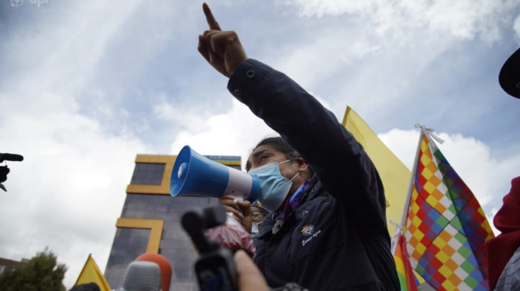 """Yaku Pérez a sus votantes: """"haced lo que su conciencia determine"""""""
