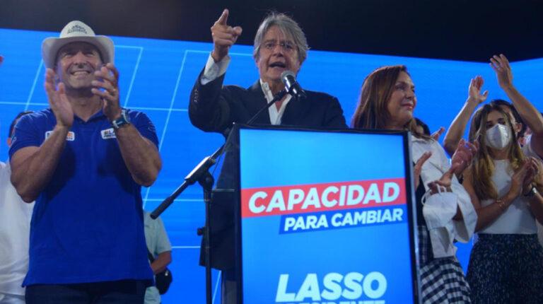 Guillermo Lasso se pronunció sobre la elección presidencial del 7 de febrero de 2021.