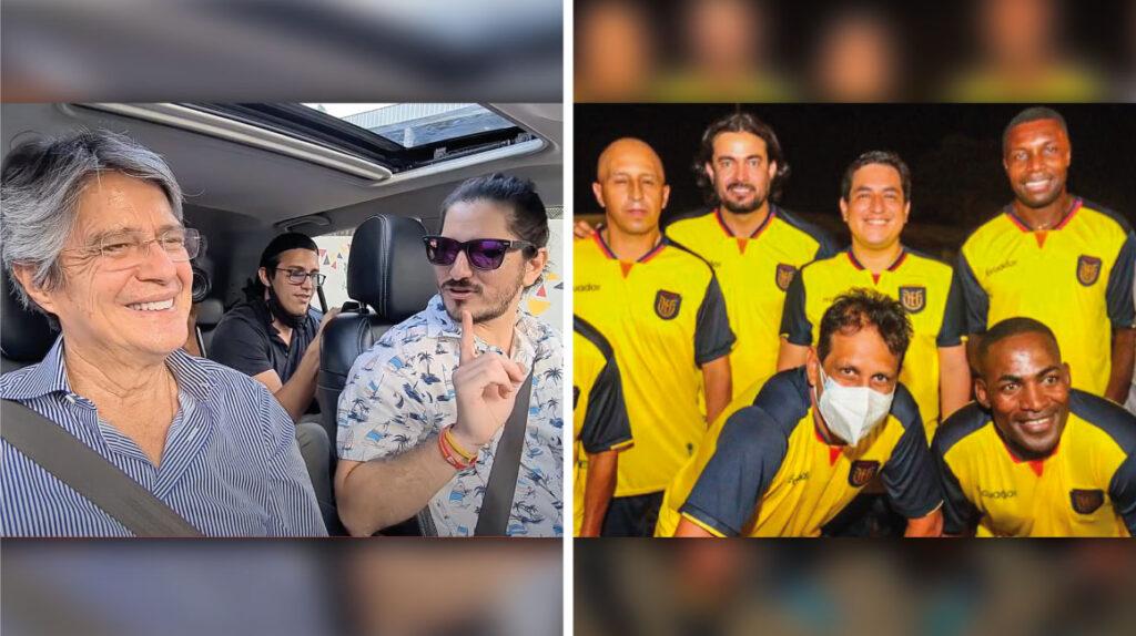 Lasso desafina junto a un 'youtuber' y Arauz juega fútbol con viejas glorias
