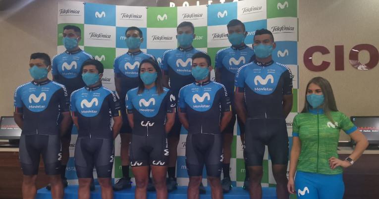 Los ciclistas que representarán al Movisar Team Ecaudor en la temporada 2021.