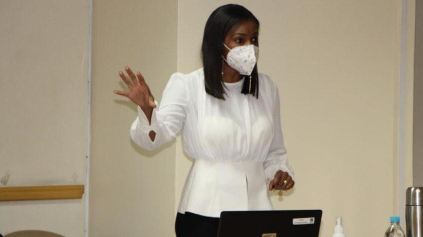 Diana Salazar, fiscal general, durante la instalación del juicio por el caso Hospital de Pedernales, el 30 de marzo de 2021.