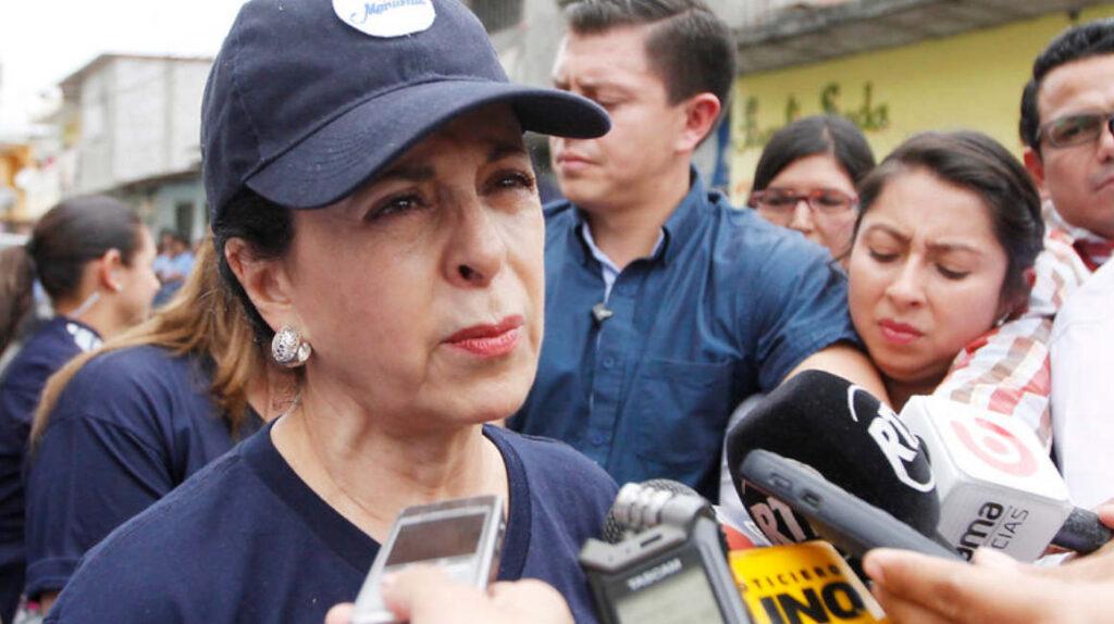 La primera dama, Rocío González, rindió versión por el caso de  vacunación VIP