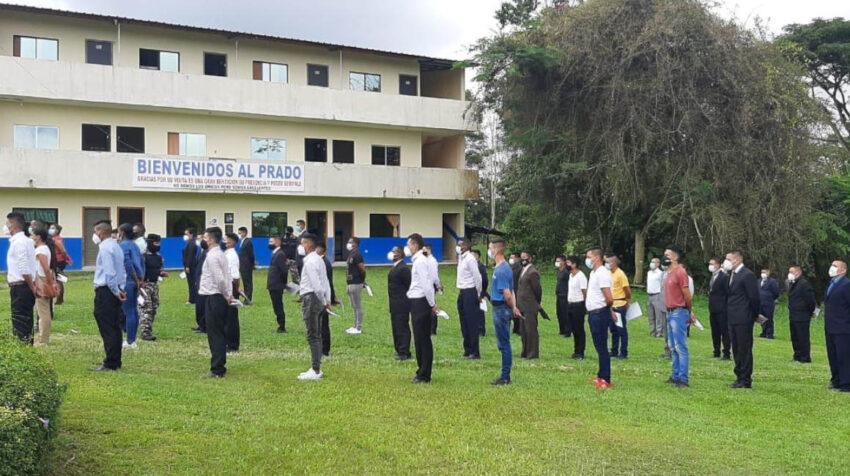 Parte de los 199 aspirantes que ingresaron a la Escuela de Santo Domingo, el 20 de marzo de 2021.