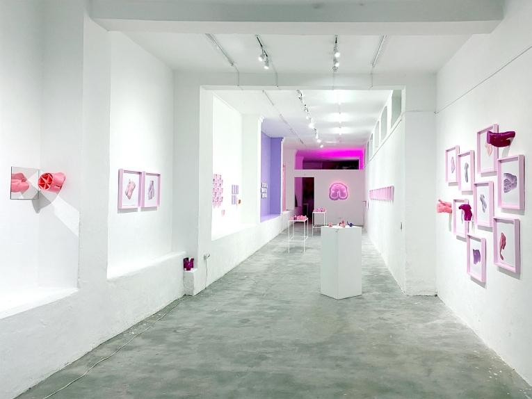 Plano general de la muestra 'Send Nudes', en galería No Lugar