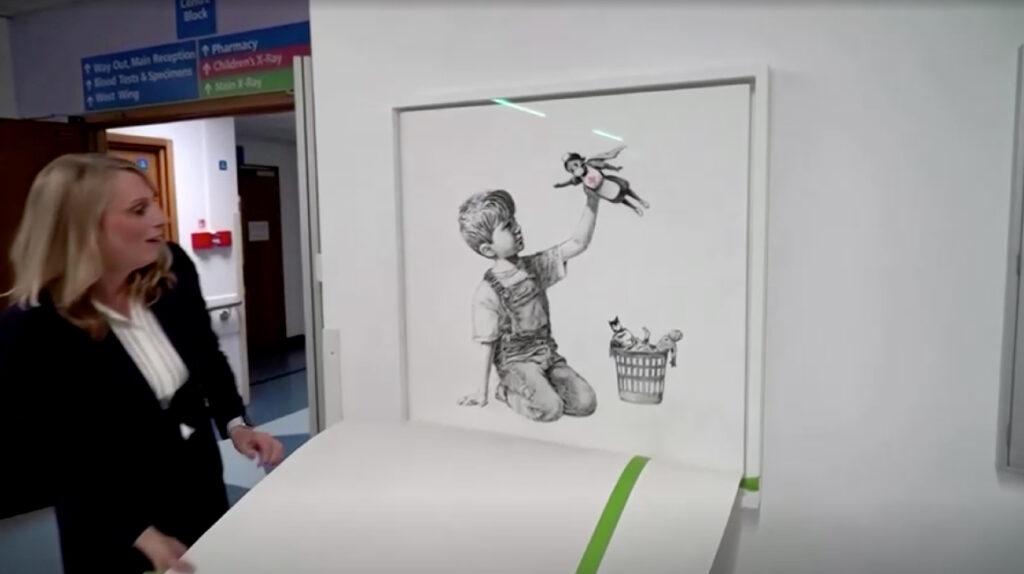 Tributo de Banksy a trabajadores de salud se vende por USD 20 millones