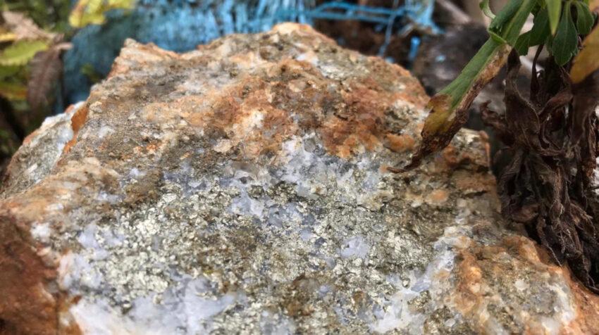 Parte del material rocoso de las minas de La Merced de Buenos Aires, el 10 de marzo de 2021.