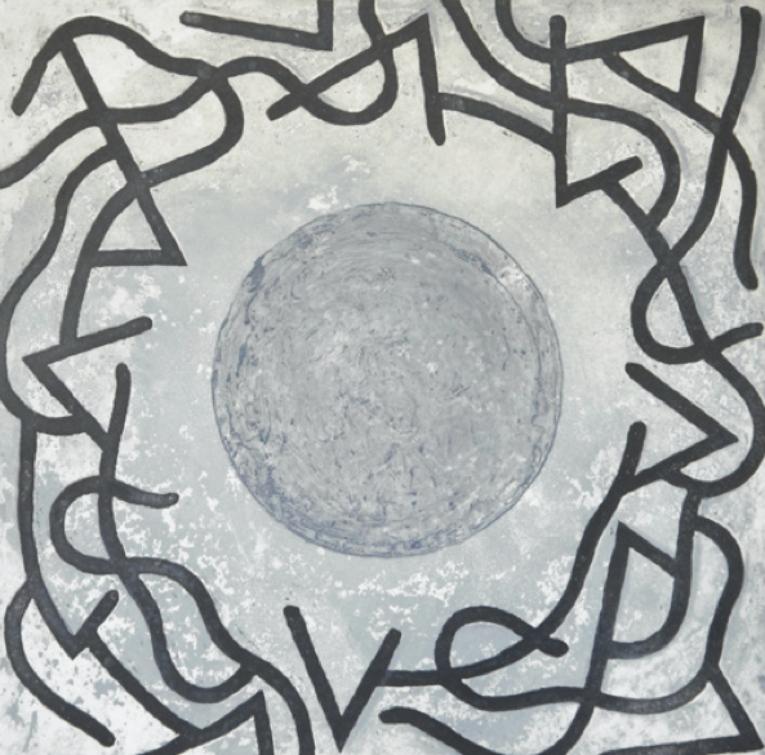 Obra 'El último cráter', de Vicente Rojo. Aguatinta sobre papel algodón.