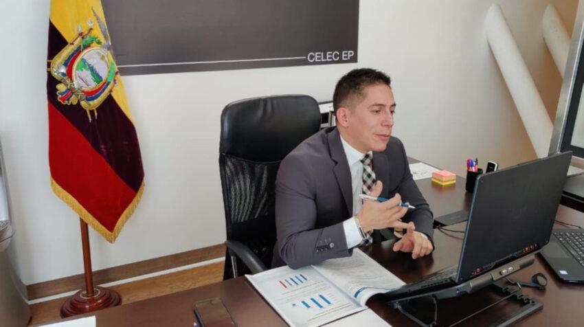 El presidente de EMCO, Hugo Orellana, durante una entrevista con PRIMICIAS, el 16 de marzo de 2021.