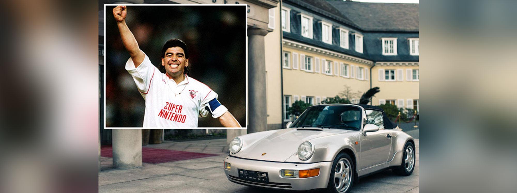 El Porsche de Maradona fue subastado por el doble de lo esperado