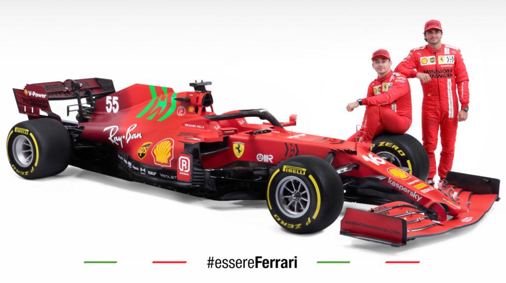 Ferrari presentó el monoplaza SF21 para el Mundial de Fórmula 1