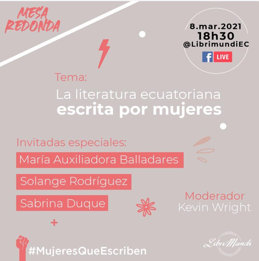 Invitación oficial al evento de Librimundi, por el Día Internacional de la Mujer.